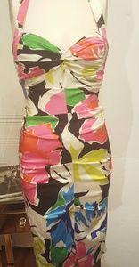 Cache, silk,  floral dress sz 2
